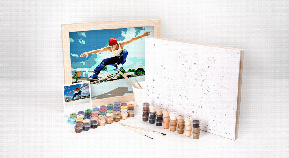 Custom Photo Paint By Number 11x14 Classic Kit Easy 123 Art