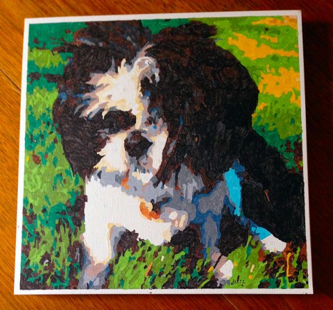 Paint by Number Dog by Katz