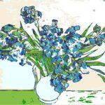 irises part painting