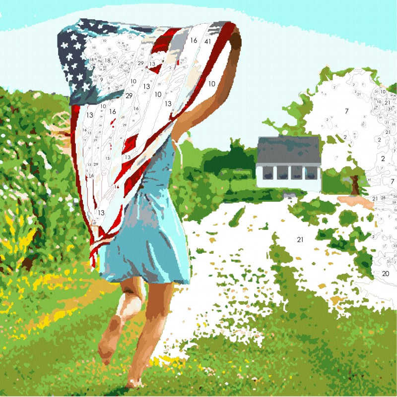 Country Living Kit: All-American Girl