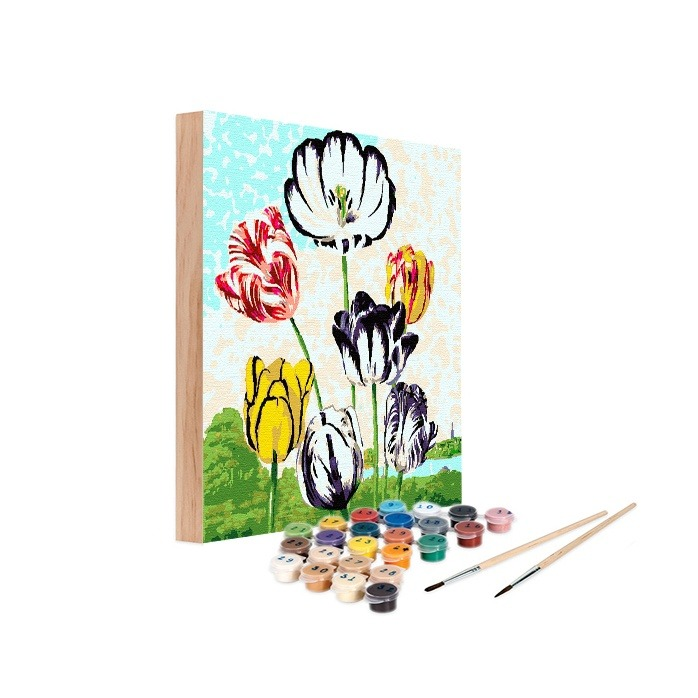 Tulips - single label