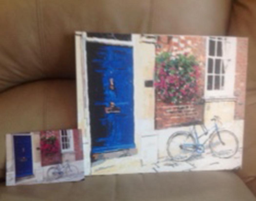 sue-blue door