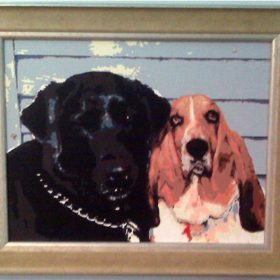 dog couple paint by numbers
