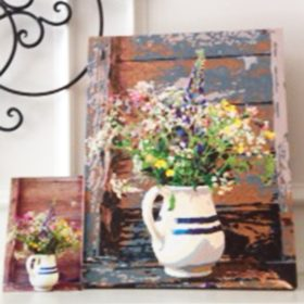 pitcher of flowers paint by numbers
